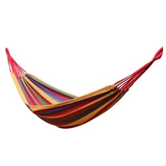 Simple Colourful Canvas Stripe Quilted Fabric Hammock Foldable Hammock 72.8*31