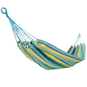 "Fashion Creative Canvas Stripe Hammock Outdoor Foldable Hammock 76.7*33"""" Blue"