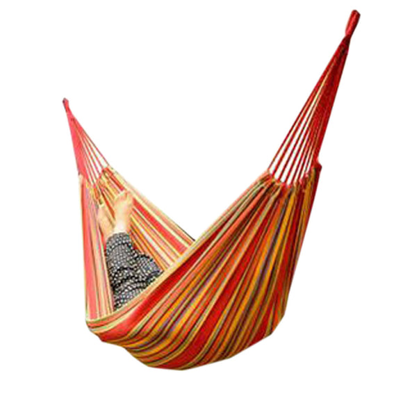 Fashion Creative Rainbow Canvas Hammock Outdoor Foldable Hammock 76.7*33