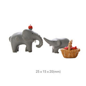 Mini Elephant Yard/Garden Resin Decor Figurines for Pot Plant, Plant Decor