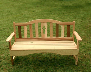 4' Cedar Holy Cross Garden Bench