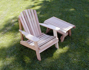 Cedar American Forest Adirondack Chair & Table Set