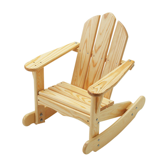 Little Colorado Kids Seating Childs Adirondack Rocking Chair Natural Laquer