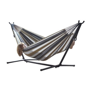 Vivere Outdoor Camping Vivere's Combo - Double Desert Moon Hammock with Stand (9ft)