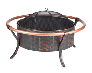 37 in Copper Rail Fire Pit
