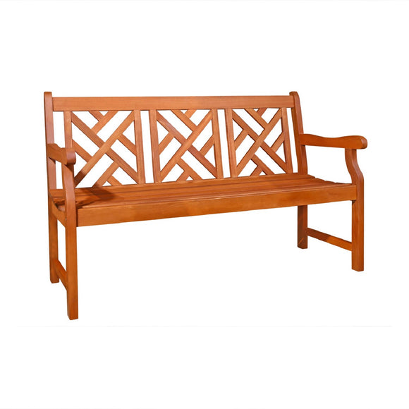Outdoor Eucalyptus Wood  Garden Bench