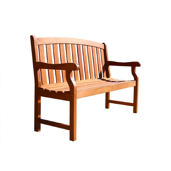 Outdoor 4-foot Wood Marley Bench