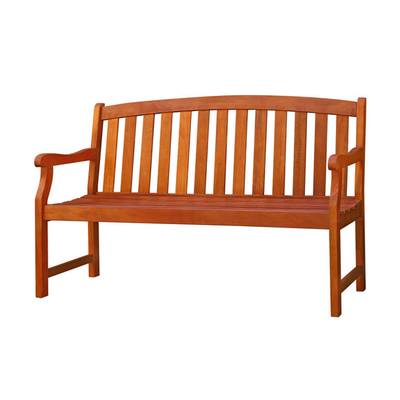 Outdoor Eucalyptus Wood Bench