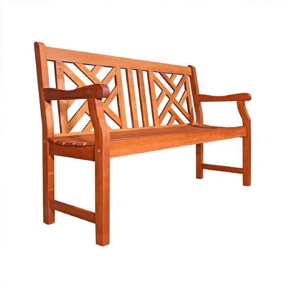 Outdoor 4-foot Wood Atlantic Bench