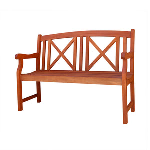 1 Seater Eucalyptus Wood Garden  Bench