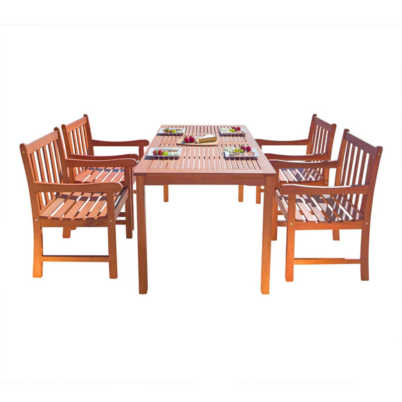 Outdoor Wood English Garden Dining Set 15
