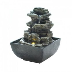 Tiered Rock Formation Tabletop Fountain