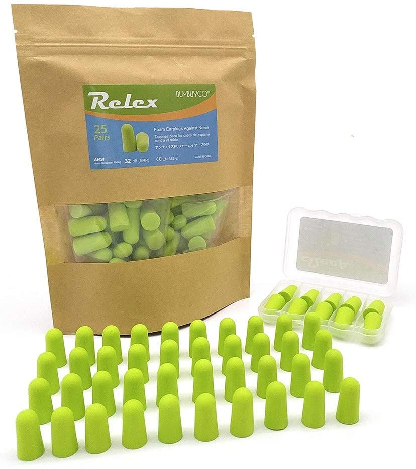 BUYBUYGO Relex Soft Foam Earplugs - 25 Pack