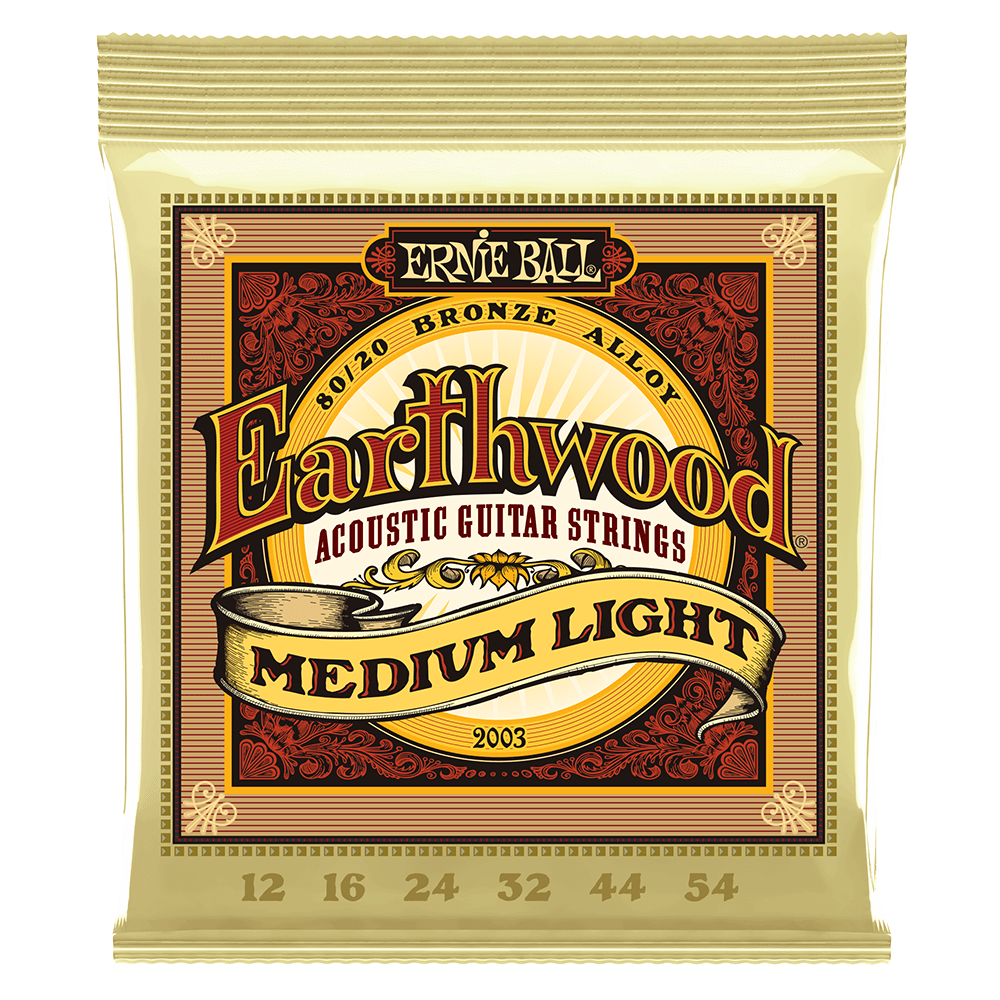 Ernie Ball Earthwood Medium Light 80/20 Bronze Acoustic Guitar Strings