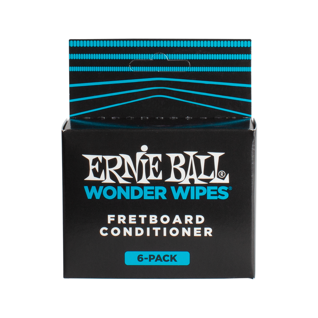 Ernie Ball Wonder Wipes Fretboard Conditioner 6-pack