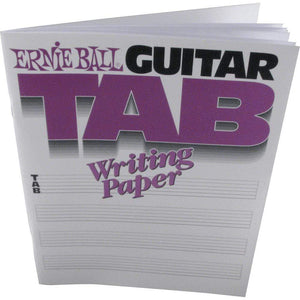 Ernie Ball Guitar Tab Writing Paper