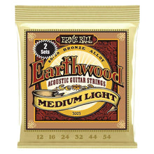 Load image into Gallery viewer, Ernie Ball Earthwood Medium Light 80/20 Bronze Acoustic Guitar Strings