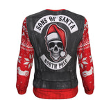 Sons Of Santa North Pole For Biker All-Over Printed Sweater | Biker Christmas Holiday North Pole Santa Claus