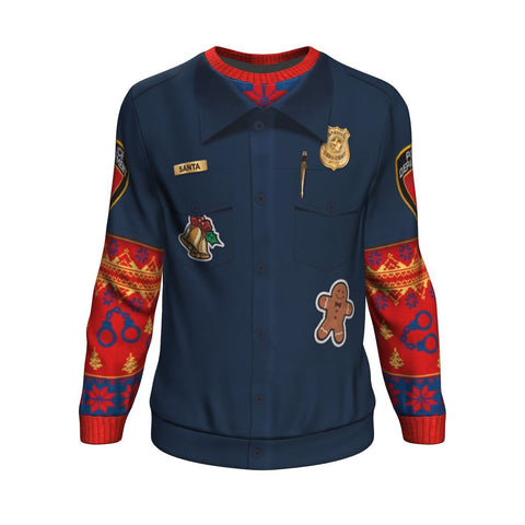 Police Navidad Christmas All-Over Printed Sweater