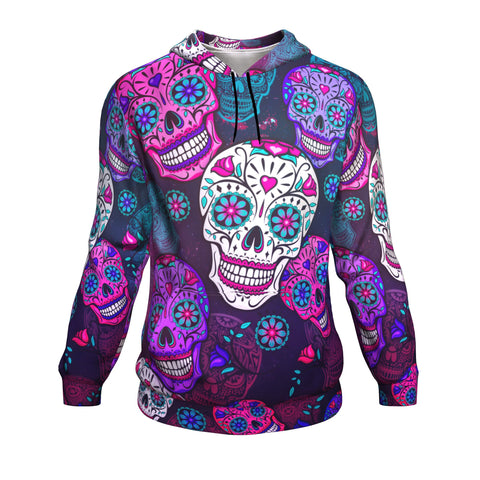 Calavera Sugar Skull Costume All-Over Printed Hoodie-XS-TeexTee