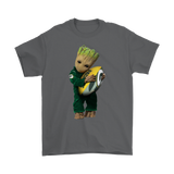 3D Groot I Love Green Bay Packers Nfl Football Shirts | Football Green Bay Packers Groot Guardians Of The Galaxy Mashup