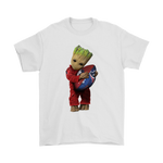 3D Groot I Love Houston Texans Nfl Football Shirts | Football Groot Guardians Of The Galaxy Houston Texans Mashup