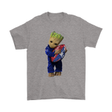 3D Groot I Love New England Patriots Nfl Football Shirts | Football Groot Guardians Of The Galaxy Mashup New England Patriots