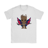 Groot I Am Ice Hockey Player Team Washington Capitals Shirts | Groot Guardians Of The Galaxy Ice Hockey Mashup Nhl