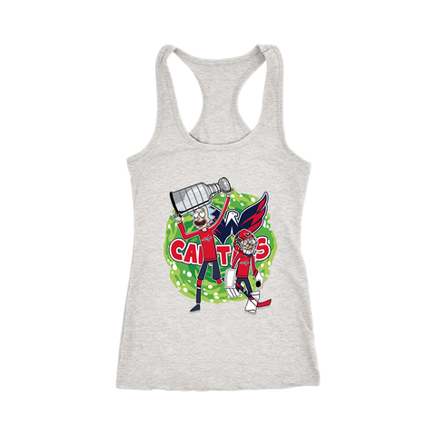 676eb86f0 Nhl Washington Capitals Stanley Cup Rick And Morty Racerback Tank Top