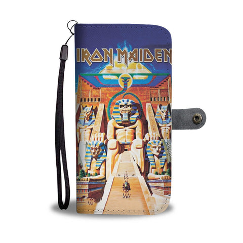 Iron Maiden Powerslave Wallet Phone Case-Wallet Case-iPhone X-Teeqq