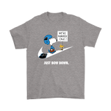 Carolina Panthers Are Number One - Just Bow Down Snoopy Shirts | Carolina Panthers Football Just Do It Mashup Nfl