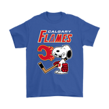 Calgary Flames Ice Hockey Broken Teeth Snoopy Nhl Shirts | Calgary Flames Ice Hockey Mashup Nhl Snoopy