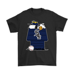 Chicago White Sox Snoopy And Woodstock Resting Together Mlb Shirts | Baseball Chicago White Sox Mashup Mlb Snoopy
