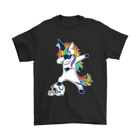 Football Dabbing Unicorn Steps On Helmet New England Patriots Shirts