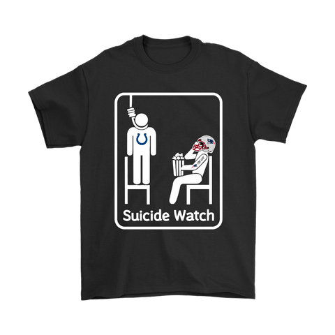 New England Patriots Suicide Watch With Popcorn NFL Shirts