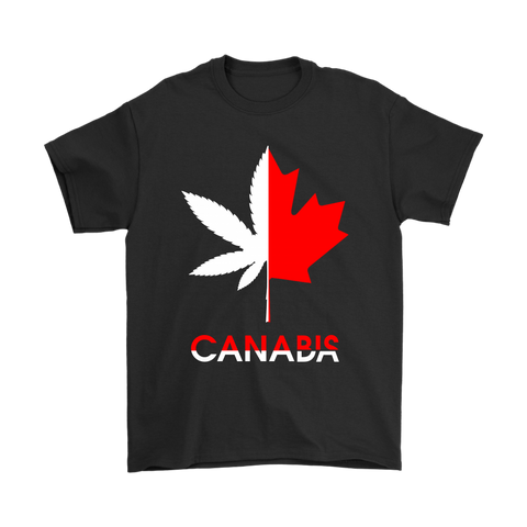 Canada x Cannabis Two Half Leaves Shirts