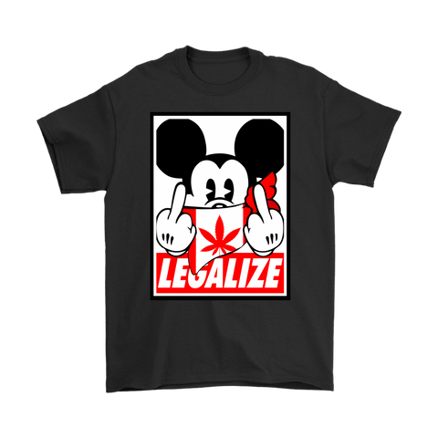 Legalize Canadian Cannabis Fuck The Police Mickey Disobey Shirts