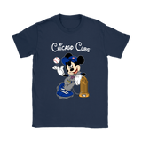 Chicago Cubs Mickey Taking The Trophy Mlb 2018 Shirts | Baseball Chicago Cubs Commissioners Trophy Disney Mashup