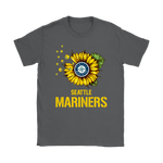 Seattle Mariners Sunflower Mlb Baseball Shirts | Baseball Flower Mlb Seattle Mariners Sport
