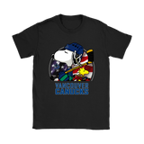Vancouver Canucks Ice Hockey Snoopy And Woodstock Nhl Shirts | American Flag Ice Hockey Mashup Nhl Snoopy