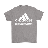 A-Badass December Woman Are Born In December Shirts | Adidas Badass Birthday December Family