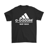 A-Badass May Man Are Born In May Shirts | Adidas Badass Family Holiday Man