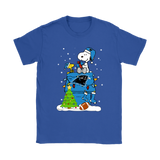 A Happy Christmas With Carolina Panthers Snoopy Shirts | Carolina Panthers Christmas Football Holiday Mashup