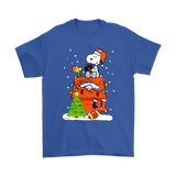 A Happy Christmas With Denver Broncos Snoopy Shirts | Christmas Denver Broncos Football Holiday Mashup