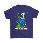 A Happy Christmas With Detroit Lions Snoopy Shirts | Christmas Detroit Lions Football Holiday Mashup