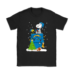 A Happy Christmas With Los Angeles Chargers Snoopy Shirts | Christmas Football Holiday Los Angeles Chargers Mashup