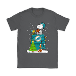 A Happy Christmas With Miami Dolphins Snoopy Shirts. | Christmas Football Holiday Mashup Miami Dolphins