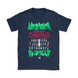 Abc Decoration Merry Christmas Stranger Things Shirts | Christmas Demogorgon Eleven Holiday Horror