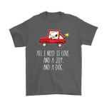 All I Need Is Love And A Jeep And A Dog Snoopy Shirts | All I Need Animal Car Dog Jeep