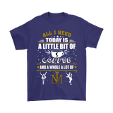 All I Need Today Is A Little Bit Of Coffee And Michael Jackson Shirts | Alone Coffee Michael Jackson Music